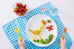 Sund lunch för barn Arkivbilder
