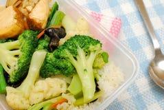sund lunch packade grönsaker Arkivfoton
