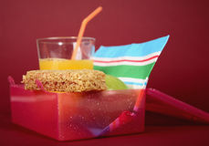 sund lunchbox Royaltyfri Bild