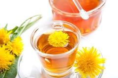 Sund maskrosörtte och honung på vit bakgrund Fotografering för Bildbyråer