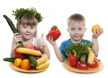 Sund mat av barn. Royaltyfri Fotografi