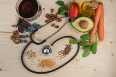Sund mat för förhindrar kardiovaskulära sjukdomar Arkivbild