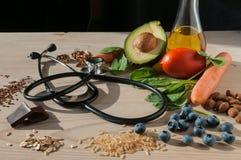 Sund mat för förhindrar kardiovaskulära sjukdomar Royaltyfri Bild