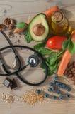 Sund mat för förhindrar kardiovaskulära sjukdomar Fotografering för Bildbyråer