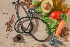 Sund mat för förhindrar kardiovaskulära sjukdomar Royaltyfria Foton