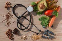 Sund mat för förhindrar kardiovaskulära sjukdomar Royaltyfria Bilder