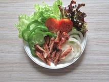 Sund mat för ny sallad Arkivfoton