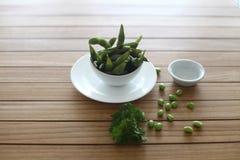 Sund mat för sojabönor arkivfoto