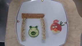 Sund mat f?r fina barn arkivbild