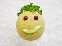 Sund mat gör mig lycklig Arkivfoto