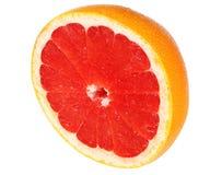 sund mat grapefrukt som isoleras på vit bakgrund royaltyfria bilder