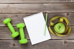 Sund mat och kondition Fotografering för Bildbyråer
