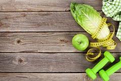 Sund mat och kondition Arkivfoton