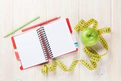 Sund mat och kondition Arkivfoto