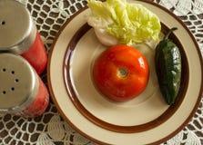 Sund mat på en platta Arkivfoto