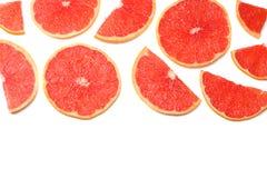 sund mat skivad grapefrukt som isoleras på bästa sikt för vit bakgrund Royaltyfri Foto