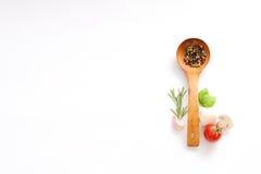 Sund matbakgrund med olika grönsakingredienser, Cle Arkivbilder