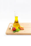 Sund matbakgrund med olika grönsakingredienser, Cle Arkivfoton