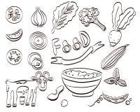 Sund matupps?ttning av symbolen ocks? vektor f?r coreldrawillustration royaltyfri illustrationer