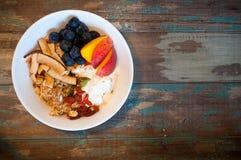 sund mysli för frukost Fotografering för Bildbyråer