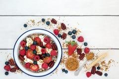 Sund ny frukost arkivfoton