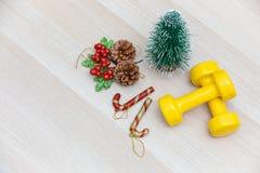 Sund och aktiv livsstil, nytt års upplösningsbegrepp Ye royaltyfri bild