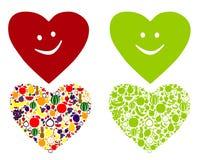 Sund och lycklig hjärta Arkivfoto