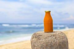 Sund orange smoothie Fotografering för Bildbyråer