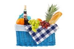 sund picknick för korgmat Royaltyfri Foto