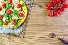 Sund pizza för grönsak Royaltyfri Bild