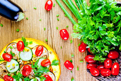 Sund pizza för grönsak Arkivbilder