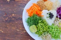 Sund rismat för sunt med mycket grönsak Arkivbilder
