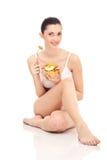 sund sallad för frukostfrukt Arkivbild