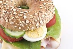 sund smörgås för bagel arkivfoton