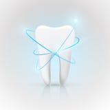 Sund tand under skydd, göra vit för tänder Arkivfoton