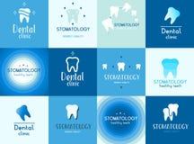 Sund vit tandbakgrundsdesign, härligt ljus - blå färg, frikänd och exakt Royaltyfria Foton