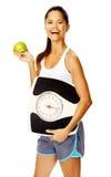 sund weightlosskvinna royaltyfri fotografi