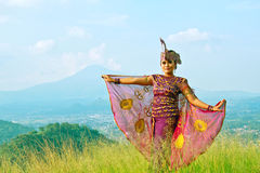 Sunda dancer Royalty Free Stock Image