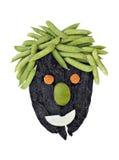 Sunda Face som göras med grönsaker Arkivbild