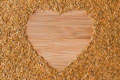 Sunda Flaxseeds för hjärta Fotografering för Bildbyråer