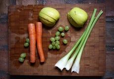 Sunda fruktsaftingredienser Arkivfoton