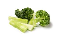 Sunda gröna organiska rå broccoliFlorets som är klara för att laga mat Royaltyfria Foton