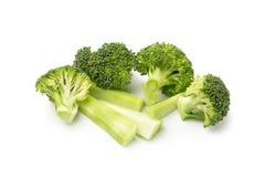 Sunda gröna organiska rå broccoliFlorets som är klara för att laga mat Fotografering för Bildbyråer