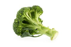 Sunda gröna organiska rå broccoliFlorets som är klara för att laga mat Royaltyfri Bild