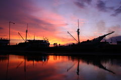 Sunda Kelapa port, Jakarta Royalty Free Stock Photo