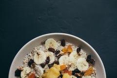 Sunda mål för frukosthavremjölhavregröt Arkivbilder