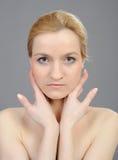 sunda nätt rena hudwomans för framsida fotografering för bildbyråer
