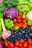 Sunda organiska frukter och grönsaker Arkivfoto