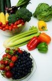 Sunda organiska frukter och grönsaker Arkivfoton