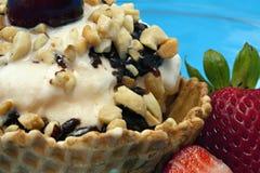 sundae πάγου κρέμας Στοκ εικόνες με δικαίωμα ελεύθερης χρήσης